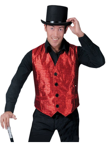 Disco Vest Red Adult