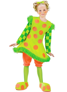 Green Toddler Girl Clown Costume