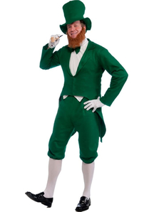 Green Leprechaun Adult Costume