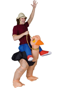 Inflatable Ollie Ostrich Adult Costume