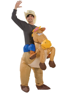Inflatable Riding A Horse Adult Costume
