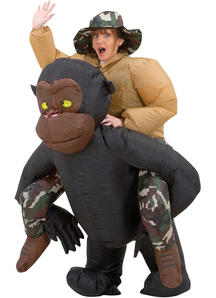 Inflatable Riding Gorilla Adult Costume