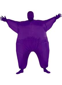 Inflatable Skin Suit Purple Adult