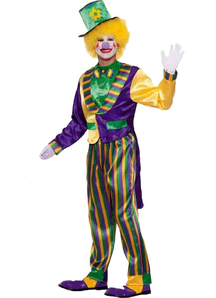 Mardi Gras Clown Adult Costume