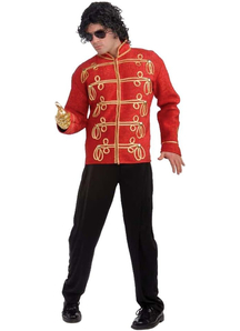 Michael Jackson Red Military Jacket