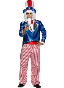 Patriotic Uncle Sam Adult Costume - 10887