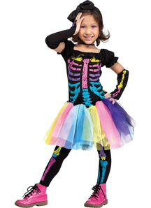 Punky Skeleton Toddler Costume