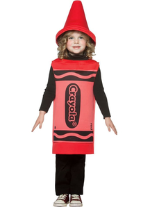 Red Crayola Toddler Costume
