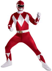 Red Power Ranger Costume Adult