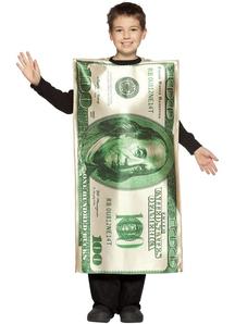 100$ Bill Child Costume