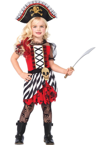 Beautiful Pirate Child Costume