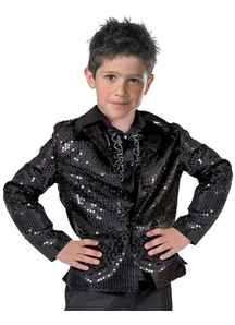 Black Disco Jacket Child