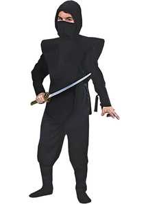 Black Ninja Soldier Child Costume