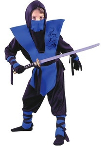 Blue Nnja Soldier Child Costume