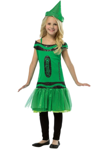 Crayola Pencil Sequin Green Costume For Kids