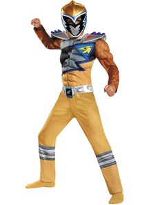 Dino Gold Ranger Muscle Child Costume