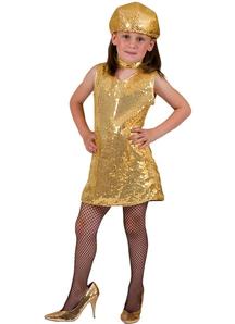 Disco Dress Child Gold