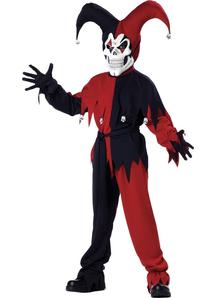Evil Jester Child Costume