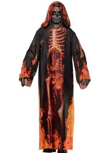 Fire Skeleton Child Robe