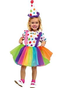 Rainbow Clown Child Costume