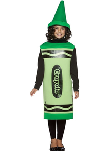 Green Crayola Kids Costume