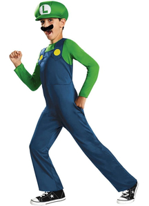 Luigi Superbrothers Mario Child Costume