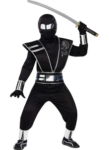 Mirror Ninja Silver Child Costume