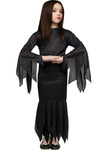 Morticia Addams Family Child Costume