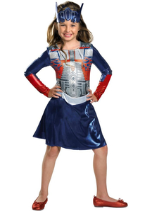 Optimus Prime Transformes Girl Costume