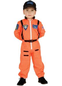 Orange Astonaut Child Costume