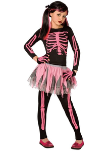 Pink Skeleton Child Costume