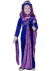 Purple Renaissanse Princess Child Costume