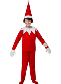 Red Elf Child Costume