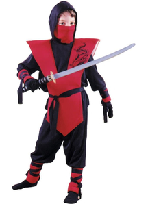 Red Nnja Soldier Child Costume