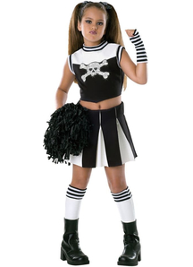 Skull Cheerleader Child Costume