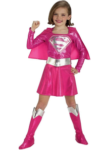 Supergirl Pink Child Costume