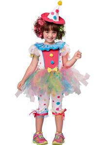Girl's Sweet Clown Costume