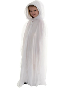 Tulle Cape White Child