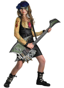 Zombie Rocker Girls Costume