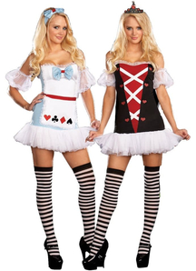 Alice/Queen Of Hearts Adult Costume