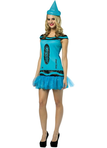 Blue Crayola Adult Costume
