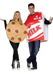 Couple Costume Milk With Cookie