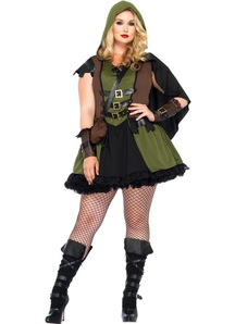 Dark Robin Hood Plus Size Costume