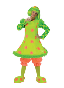 Green Clown Adult Costume