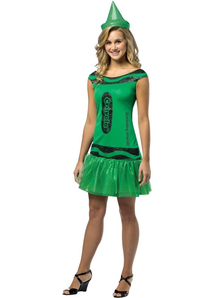 Green Crayola Adult Costume