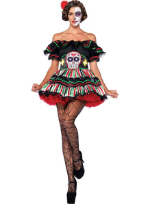 Lady Day Of The Dead Adult Costume