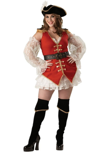 Lady Pirate Adult Plus Size Costume