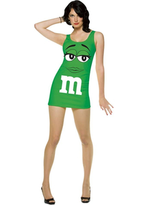 M&M Green Adult Costume