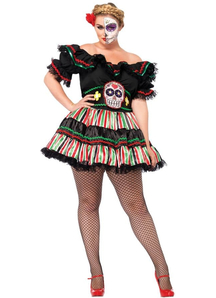 Miss Day Of The Dead Adult Costume