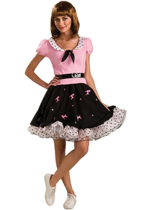Pink Poodle Girl Adult Costume